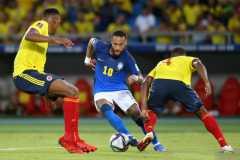 Brazil berbagi poin dengan Kolombia usai bermain imbang tanpa gol